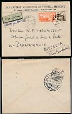 FRENCH INDOCHINA 1938 to JAVA EAST INDIES via SIAM PRINTED ENV.TROPICAL MEDICINE
