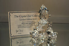 Silver Deer Crystal Zoo Pinocchio & Friend 846/5000 Signed Faceted Swarovski
