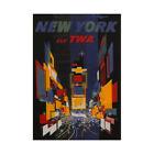 Travel Tourism TWA New York USA Colour City USA Framed Wall Art Print
