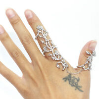 Woman Girl Ring Party Prom Rose Flower Crystal Adjustable Custom-built Jewelry