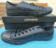Converse Chuck Taylor All Star Ox Leather Mono Trainers Mens UK 12 EUR 46.5