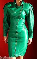 NORTH BEACH GREEN LEATHER  BIKER DRESS  - EXTREMELY SOFT XS 6