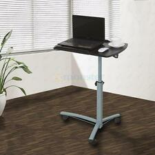 Laptop Desk Hospital Table Rolling Cart Angel & Height Adjustable Over Bed Stand