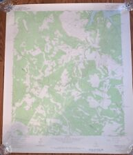 Original 1967 map Lake Travis Austin Texas Geological Survey Rare 27x22 Shingle
