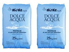 2 sacchi Sale Per Addolcitore In Pastiglie 25 Kg Addolcitori Scambiatori Piscine