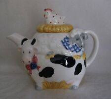 Tea Pot Otagiri Cow Chicken Lamb Porcelain Teapot EK Brownd Japan Cutie Vintage