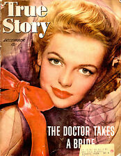 DECEMBER 1944 TRUE STORY MAGAZINE-ELYSE KNOX COVER-ROMANCE-VINTAGE ADS-RARE
