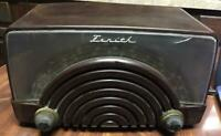 Vintage Zenith S-11622 Tabletop Tube Radio For Parts/Repair (missing cord)