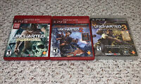 UNCHARTED Trilogy Lot 1 2 3 PlayStation 3 PS3 Drake Fortune Game Of The Year