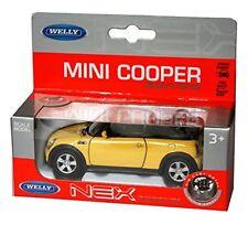 Mini Cooper S Cabrio in Yellow - Nex Die Cast Metal Model - 1:34 Scale Car