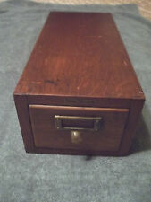 1 Drawer Globe - Wernicke,  Oak Card File, Original aged Patina, Free S/H