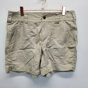 Columbia Titanium Packable Womens Size 6 Beige Shorts Omni-Dry hiking nylon