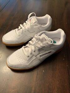 New Men's Reebok Workout Plus Shoes White, Carbon Leather (CN2126) Size 8