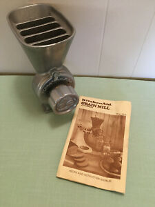 Vintage Hobart KitchenAid GM-A Metal Grain Mill Attachment With Instructions