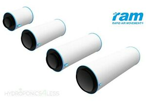 """RAM Carbon Filter Fan Air Hydroponics Grow Odour Removal 4"""" 5"""" 6"""" 8"""" 10"""" 12"""""""