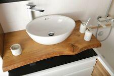 Unikate Konsolenplatte Waschtischplatte Massiv Waschtisch Eiche Holz Waschbecken