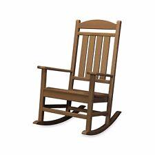 Polywood Presidential Outdoor Teak Rocking Chair Porch-Deck-Veranda #R100TE NEW
