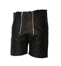 Zunfthose Zimmermann Short Nappa Leder schwarz Größe 32 inch