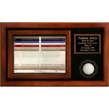 Hole in One Fully Customized Engraved Commemorative Award Display