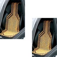 2 x Holzkugel Sitzauflage Auto Holzkugelsitzauflage Holzkugelaufleger Comfort