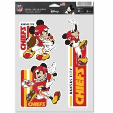 KANSAS CITY CHIEFS MICKEY MOUSE 3 PIECE MULTI-USE DECALS DISNEY NFL LICENSED