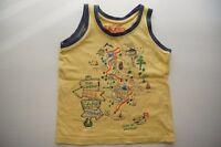 Jungen Sommer Top Shirt armlos von E-Bound m. tollem Motiv Gr. 104 110 Baumwolle