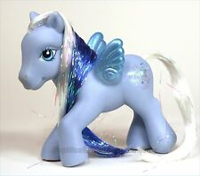 My Little Pony Ponies MLP G3 Silver Glow blue white glitter pegasus BEAUTIFUL!