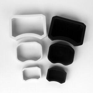 Abu I Pet Square Plastic Reptile Feeding Dish Food Water Bowl Black/White 4 type