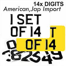 3d Gel AMERICAN JAP IMPORT Number Plates Domed Resin Making REG DIGITS SET OF 14