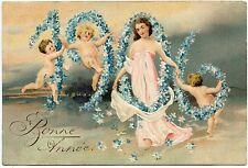 ANGES. ANGELS. MILLéSIME. DATE. 1906.  GAUFRé . EMBOSSED