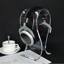 Clear Crystal Acrylic Headphone Stand Headset Holder Desk Display Hanger Rack