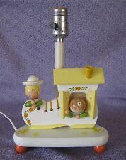 Vintage 1970s Children in Shoe – Nursery Originals Lamp w/Night Light