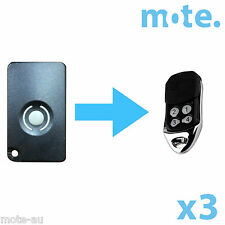 3 x Homentry Home Entry HE60 HE60R HE4331 HE60ANZ Compatible Garage Remote