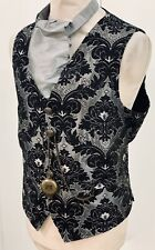 Steampunk Vintage Style Waistcoat Ensemble  Cravat And Compass