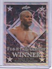 Floyd Mayweather 2017 Leaf Metal Fight of the Century Wave Prismatic /25