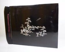 Antique Genuine Mother of Pearl Wedding Photo Album Japan Pagoda Mountains Art