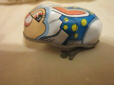 Vintage Tin Wind-up Rabbit Made in Hong Kong 1960's
