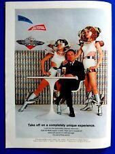 "Colt 45 Malt Liquor Flying Saucer Space Girls 1968 Original Print Ad 8.5 x 11"""