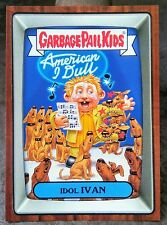 2016 GARBAGE PAIL KIDS SLIME TRASHY TV RERUN INSERT STICKER CARD #6B IDOL IVAN