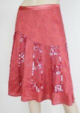 Knee-Length A-Line Hand-wash Only 100% Cotton Skirts for Women