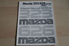 94184) Mazda 323 626 - technische Daten & Ausstattungen - Prospekt 09/1990