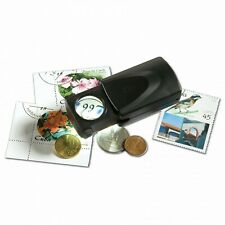 LED PULL-OUT MAGNIFIER 20X - for stamps, coins and hobbies