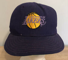 Los Angeles Lakers Fitted Hat 7 1/4 Purple NBA Basketball 90s Vintage New Era