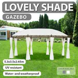 vidaXL Gazebo Cream White Garden Marquee Canopy Pavilion Shelter Party Tent