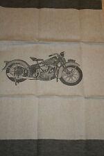 Küchentuch,rein Leinen,Liebhaber Motorrad,grau taupe,sehr schön,ladenneu 58x78
