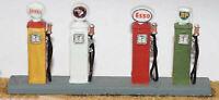 4 Retro Petrol Pumps F115 UNPAINTED OO Scale Langley Models Kit 1/76 Scenery