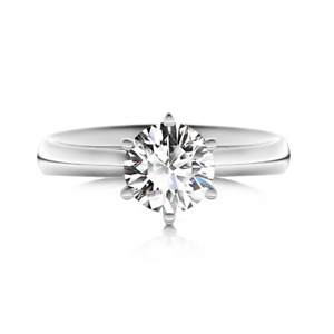 Classic Six Prong 1.50CT Solitaire Engagement Ring 14K White Gold Finish VVS/D