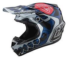TLD MX Helmet 2020 SE4 Polyacrylite Skully Silver Troy Lee Designs Motocross