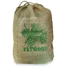 """Uniflame C-1751 9"""" High 8 Pounds Fatwood In Burlap Sack Pine Scented"""