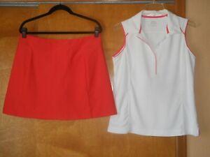 Golf Outfit Lady Hagen Skort Size L (12-14) & Slazenger S/L Polo Shirt Top Sz L
